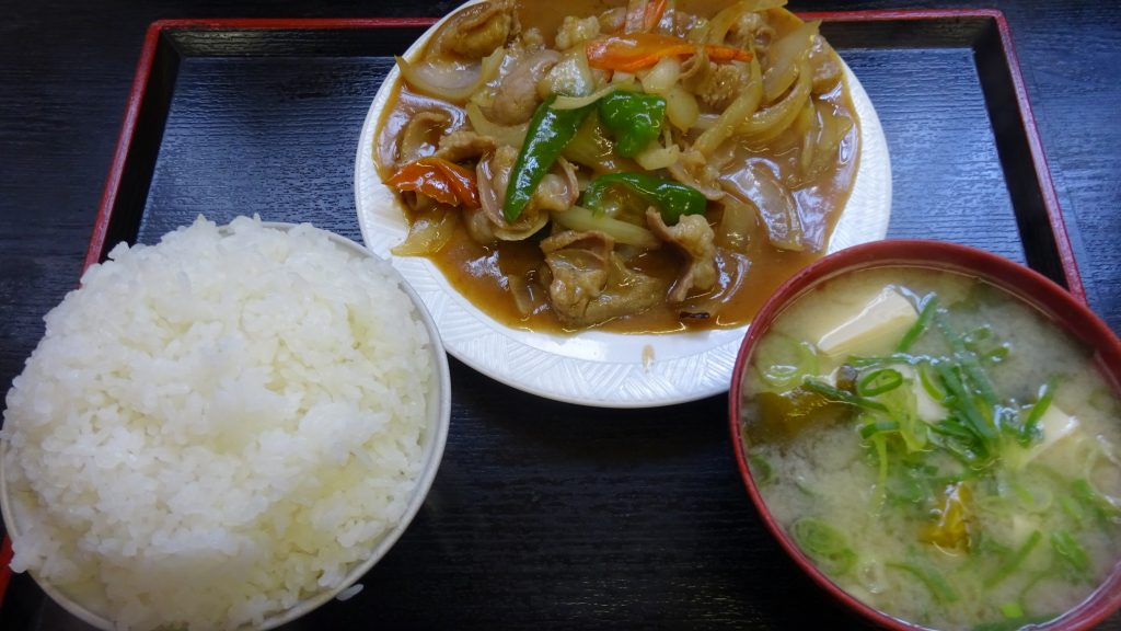 ホルモン定食ライス(小)